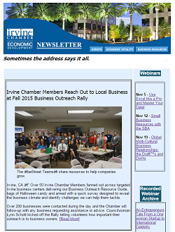 Thumbnail Image For Irvine Chamber Economic Development Newsletter - Dec 2015  - Click Here To See