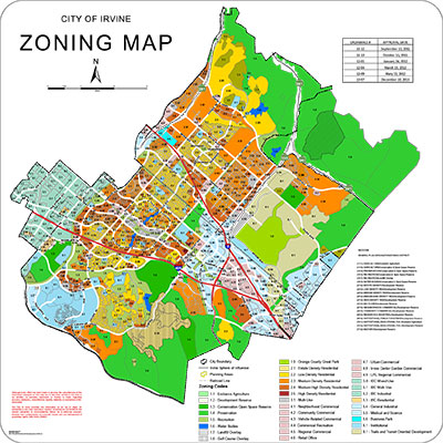 Thumbnail Image For City of Irvine Zoning Map - Click Here To See
