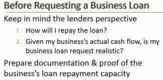 Thumbnail Image For What to Know (and Do) before Requesting a Business Loan - Click Here To See