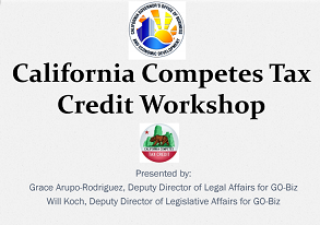 Thumbnail Image For California Competes Tax Credit Workshop - Click Here To See